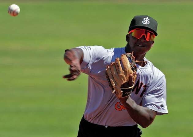Story photo for Giants' elite prospects Marco Luciano, Heliot Ramos chosen for Futures Game