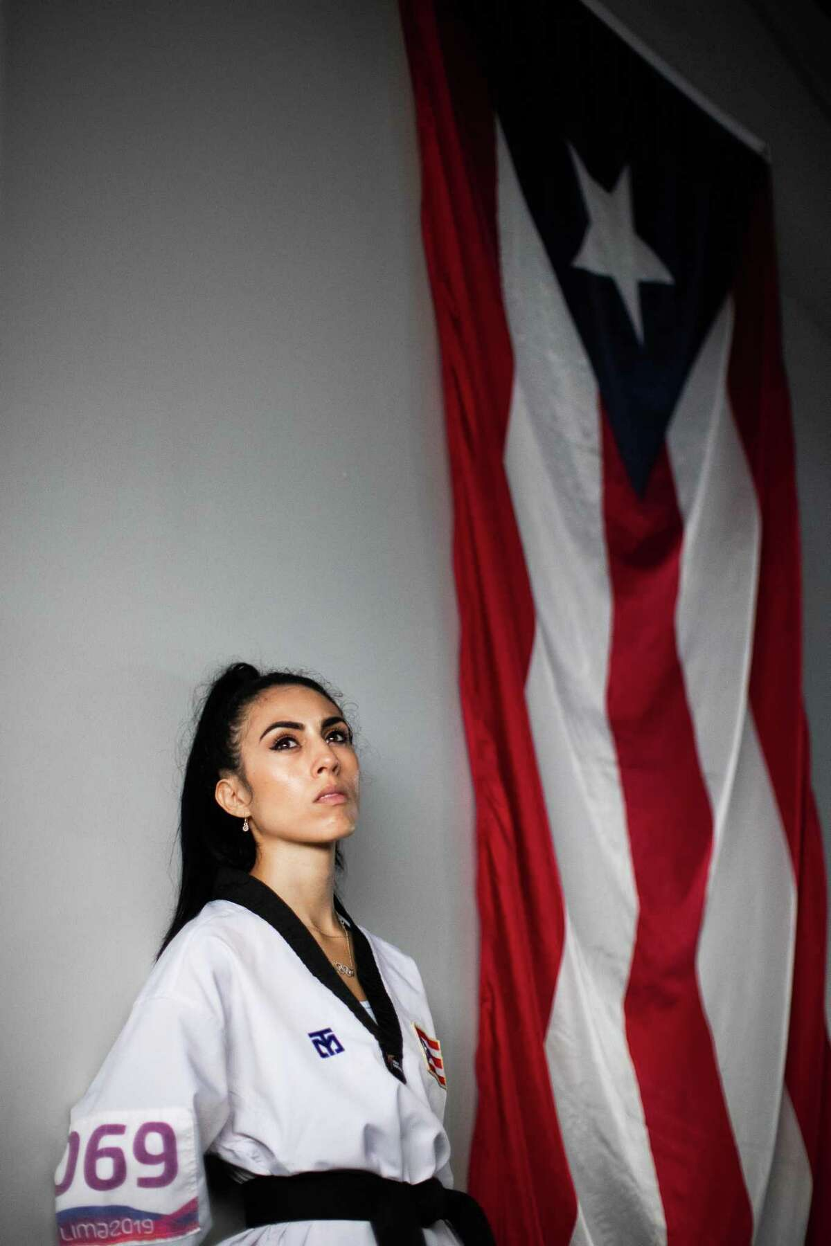 Olympic taekwondo athlete Victoria Stambaugh, 28, at the Performa gym, Thursday, June 10, 2021, in San Juan. Stambaugh, a native Houstonian will be representing Puerto Rico in the 2020 Summer Olympics in Tokyo.