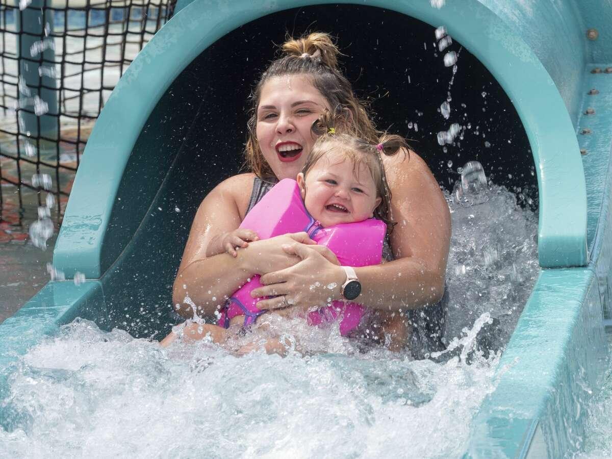 Families and children enjoy an afternoon of sunshine 06/03/2021 at Washington Park Aquatic Center. Tim Fischer/Reporter-Telegram