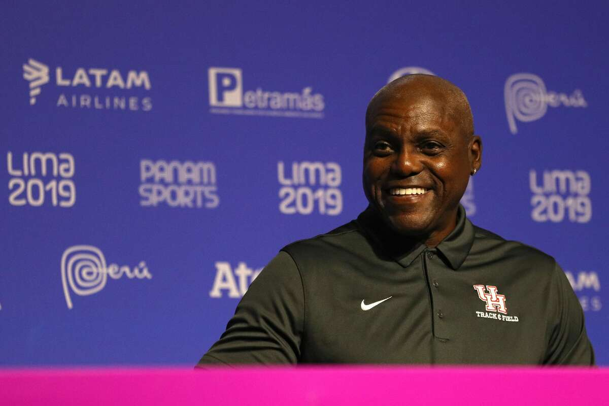 Olympian and Houston native Carl Lewis is championing the next generation of HBCU athletes. (Photo by Patrick Smith/Getty Images)
