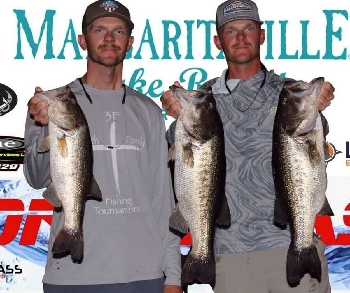 Tanner and Travis Lyons came in second place in the CONROEBASS Tuesday Tournament with a weight of 16.08 pound.