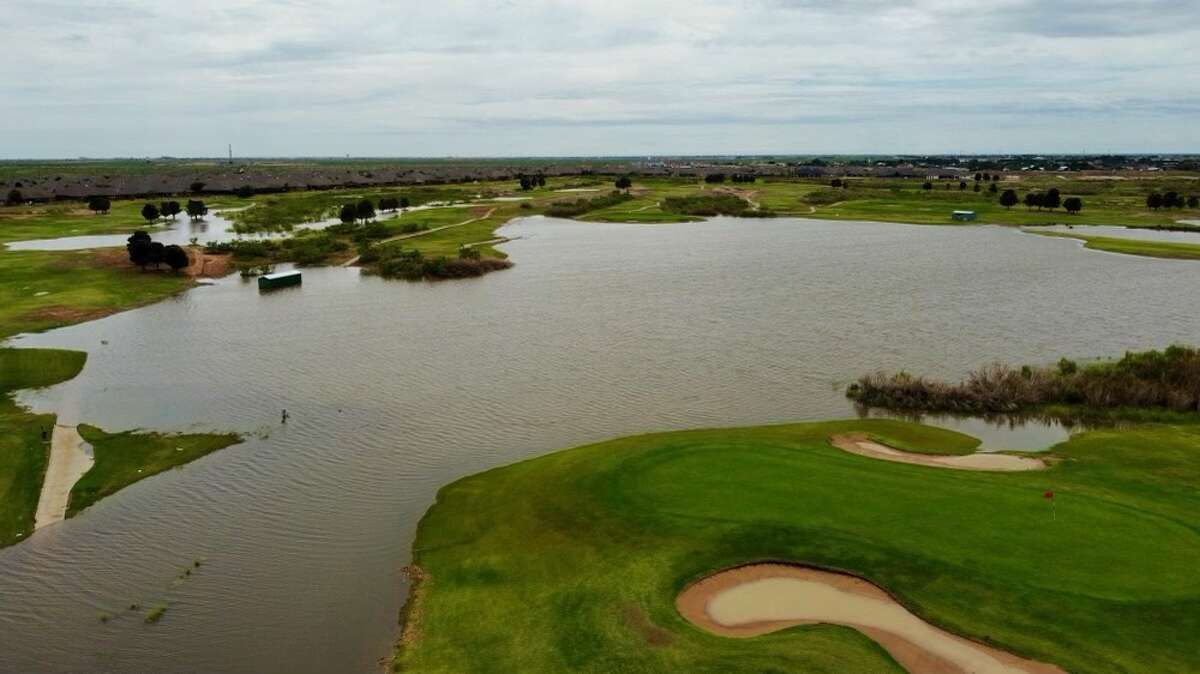 Photos show Nueva Vista heavily flooded after a series of storms on June 26-29 dumped several inches of rain in Midland and across parts of West Texas.