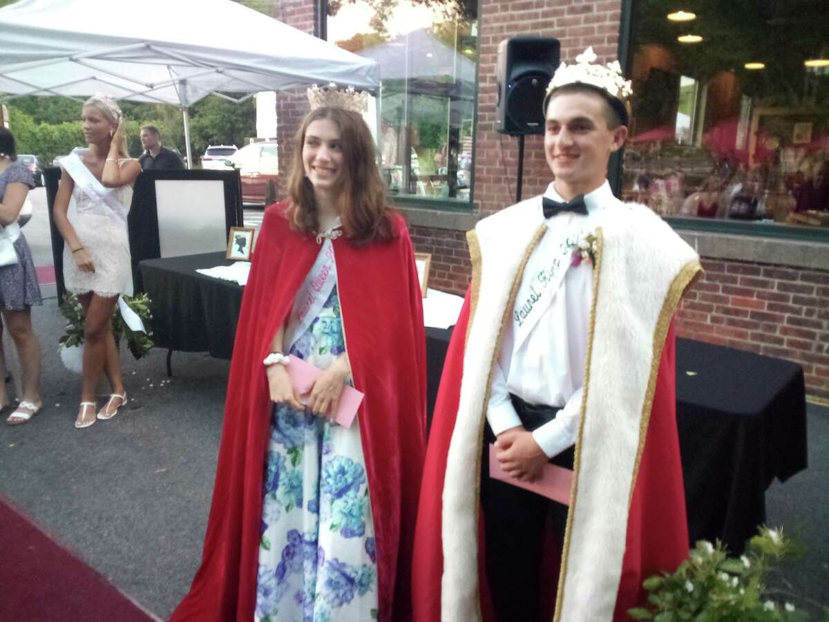 Winsted's Laurel Festival Queen and King contest was held Tuesday night at Little Red Barn Brewers on Lake Street. The winners are Rebecca Dowling and Caleb Goodell.