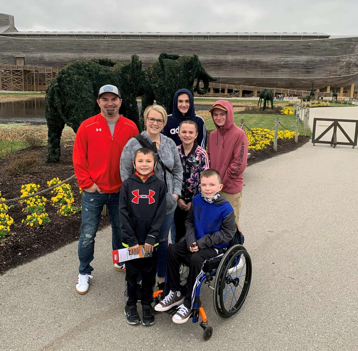 The Fuller family and parents Sarah and Kenny have donated to the Hemlock Park Project's splash pad fund in honor of their now-ten year old son Chase, who was involved in an accident in 2019 with Kenny and two of his brothers which left him paraplegic.