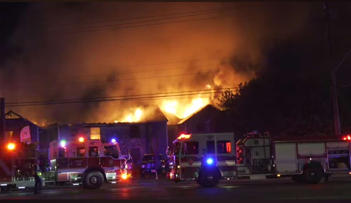 A massive apartment fire left many without a home on Monday.