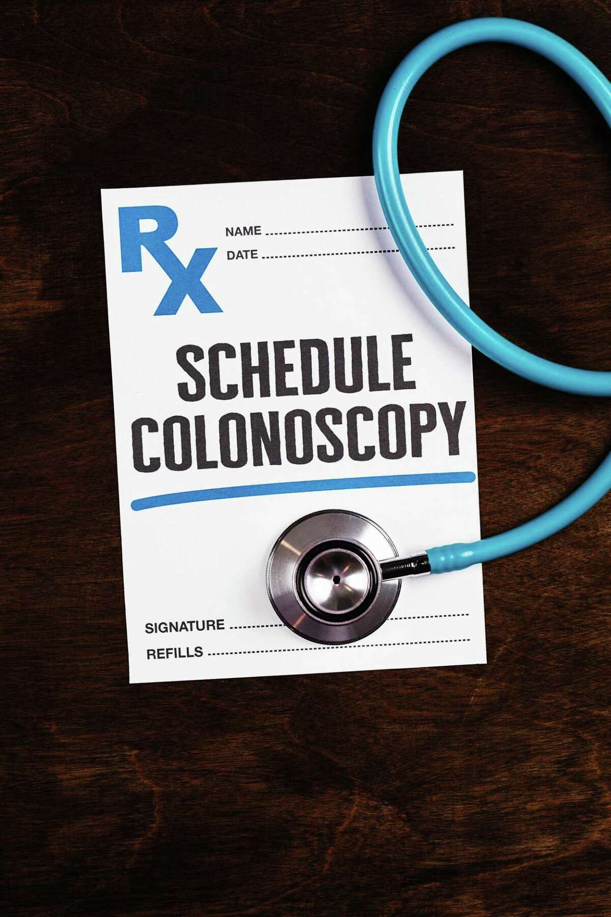 No, this is not a photo from Cary's beautiful colonoscopy, but it is a not-so imaginative reminder to schedule one.