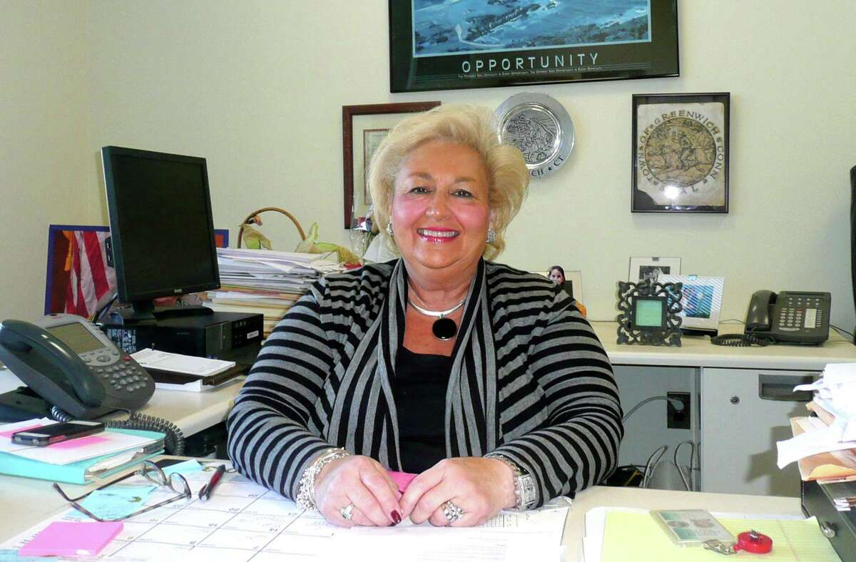 Carmella Budkins in her office as Town Clerk in Greenwich