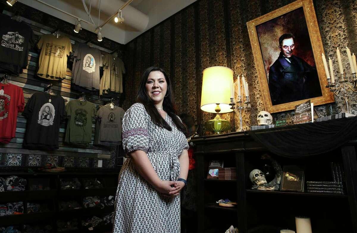 Lauren Swartz owns Sisters Grimm Ghost Tours in downtown San Antonio.