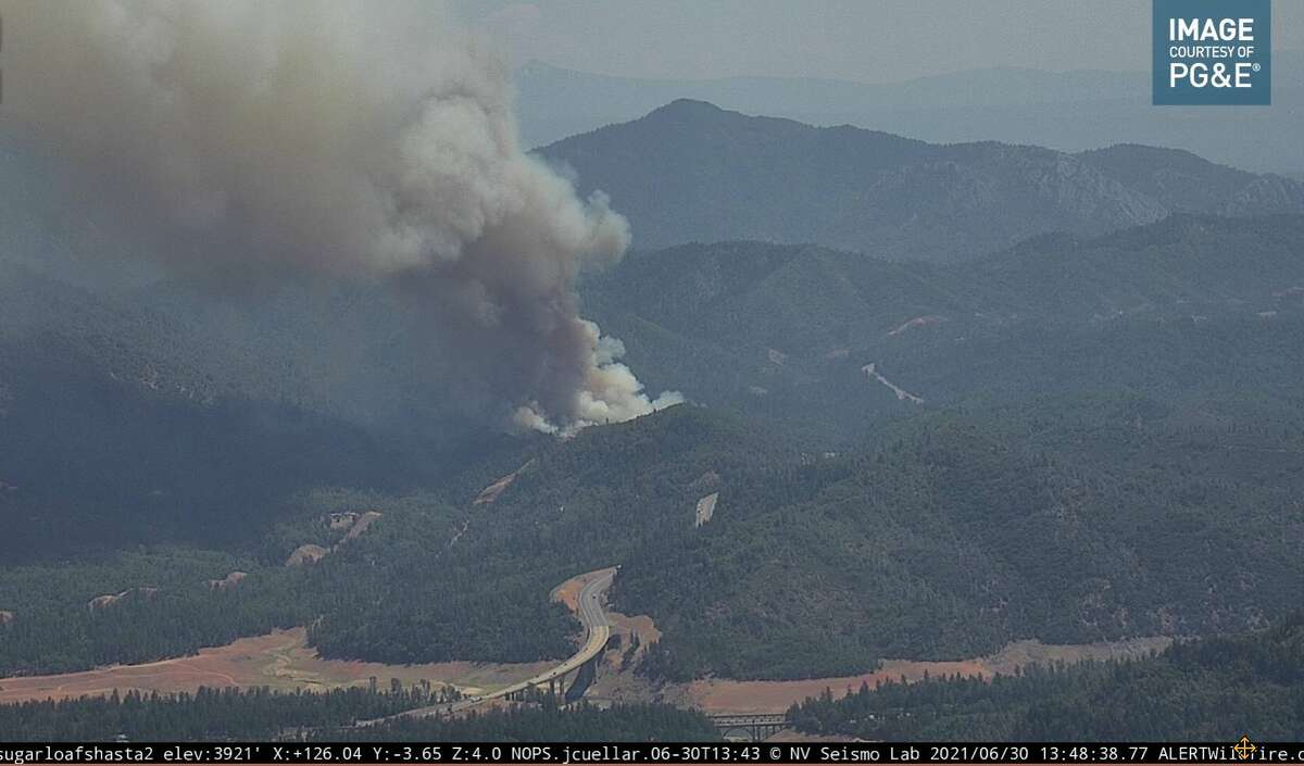 The Salt Fire broke out 20 miles north of Redding, Calif., on June 30, 2021.