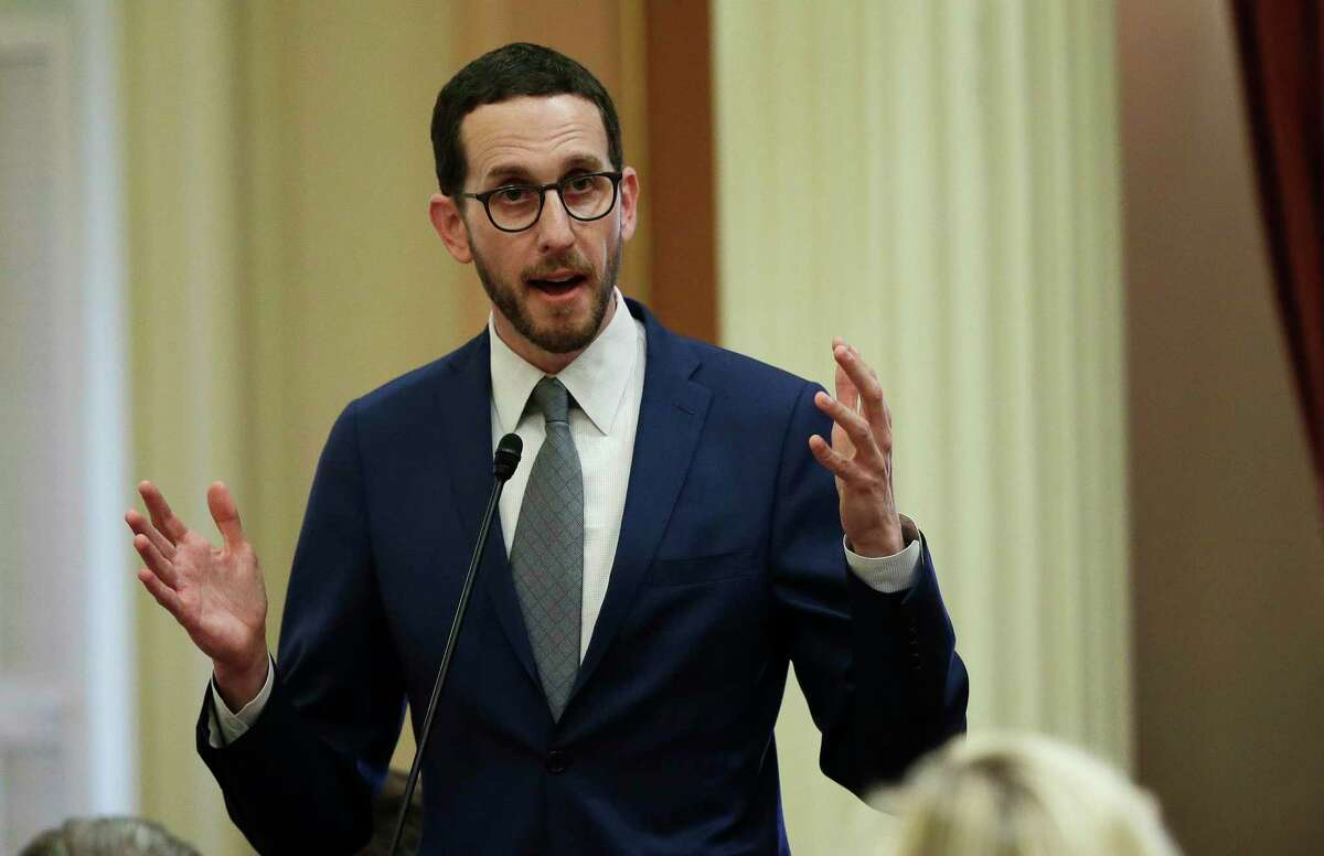 """State Sen. Scott Wiener is author of a bill supporting a treatment program that pays meth addicts to stay clean. """"As a gay man in San Francisco, my community has been deeply affected by meth use,"""" he said."""