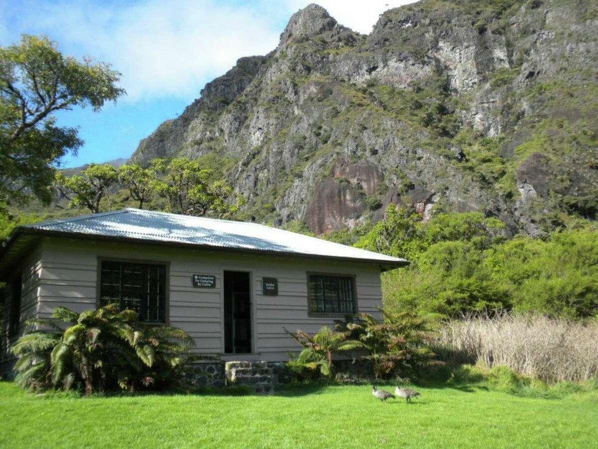 One of the three cabins within Haleakala National Park, Maui, Hawaii.