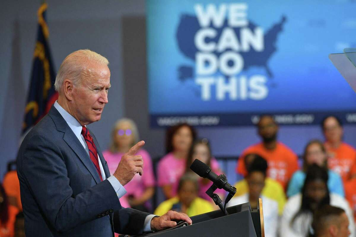 President Biden speaks after visiting a mobile vaccination unit at the Green Road Community Center in Raleigh, North Carolina. President Biden is unlikely to reach his goal of 70% vaccination goal by July 4.