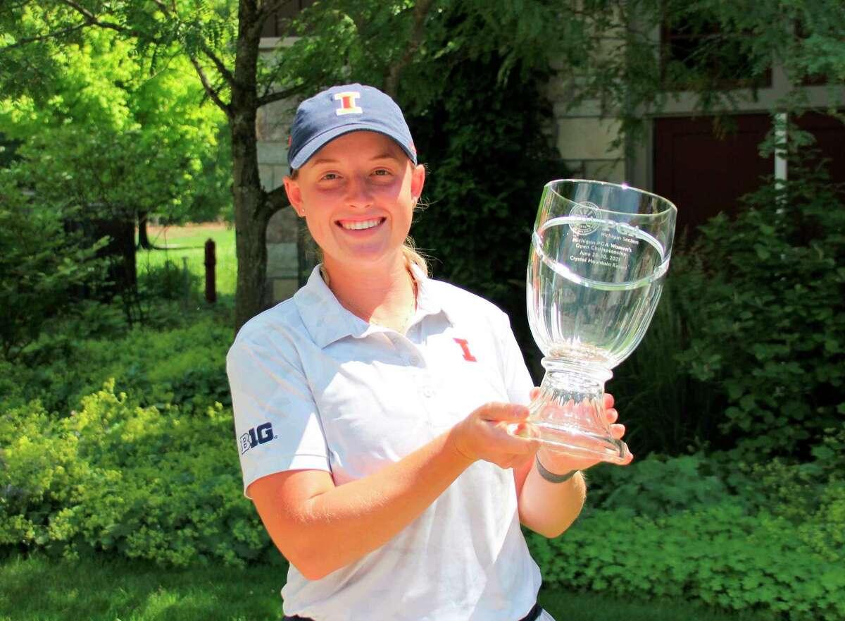 Tristyn Nowlin celebrates her championship win on June 30. (Courtesy photo)