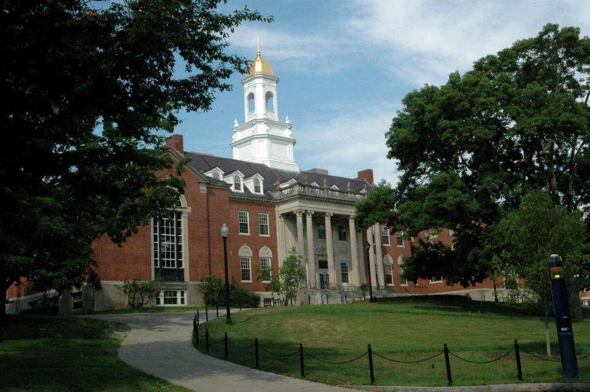 The Wilbur Cross Building houses administrative offices on the University of Connecticut campus in Storrs, Conn. in July 2012.