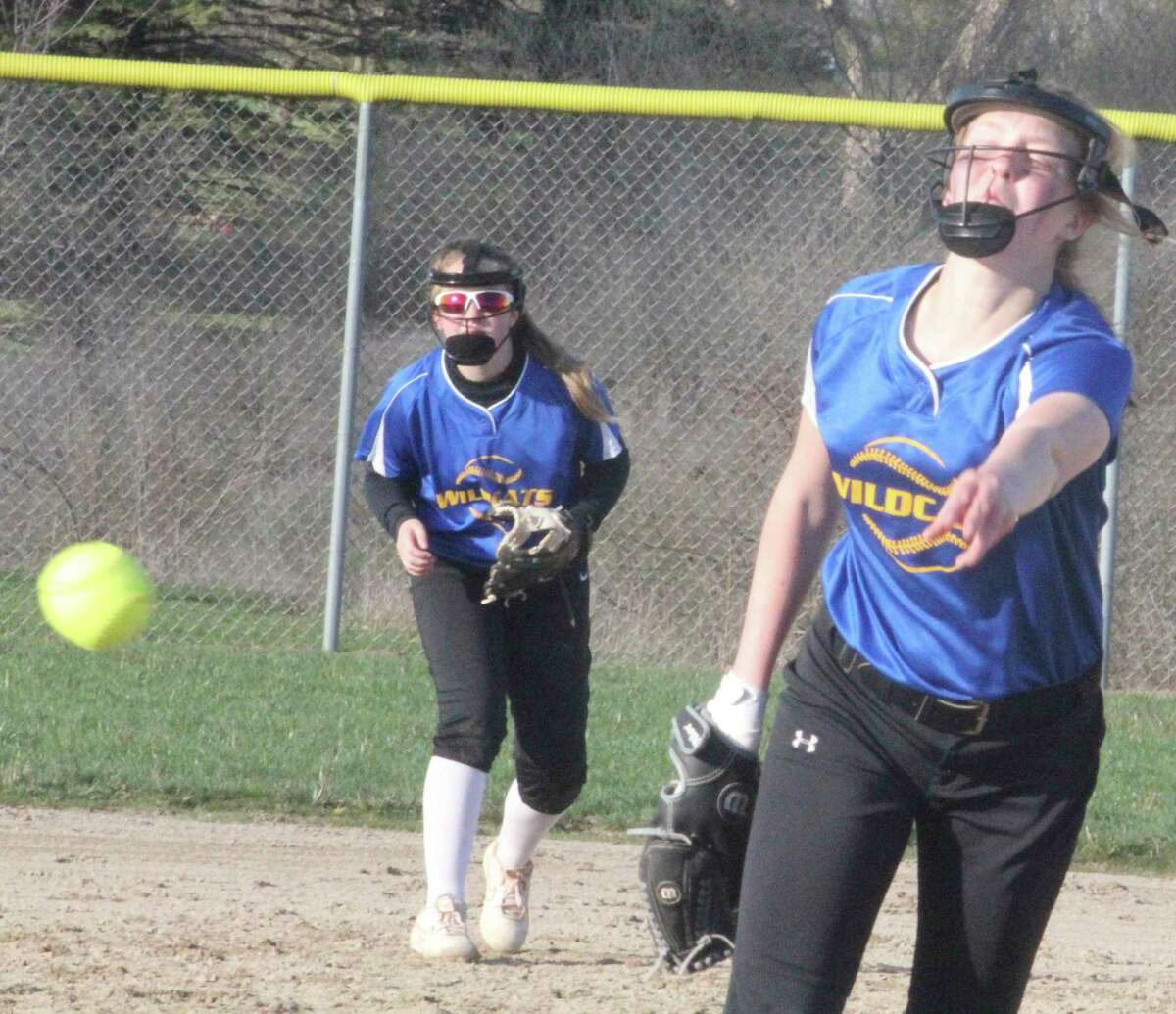 Evart's Addy Gray delivers a pitch against Big Rapids early in the softball season. (Pioneer file photo)