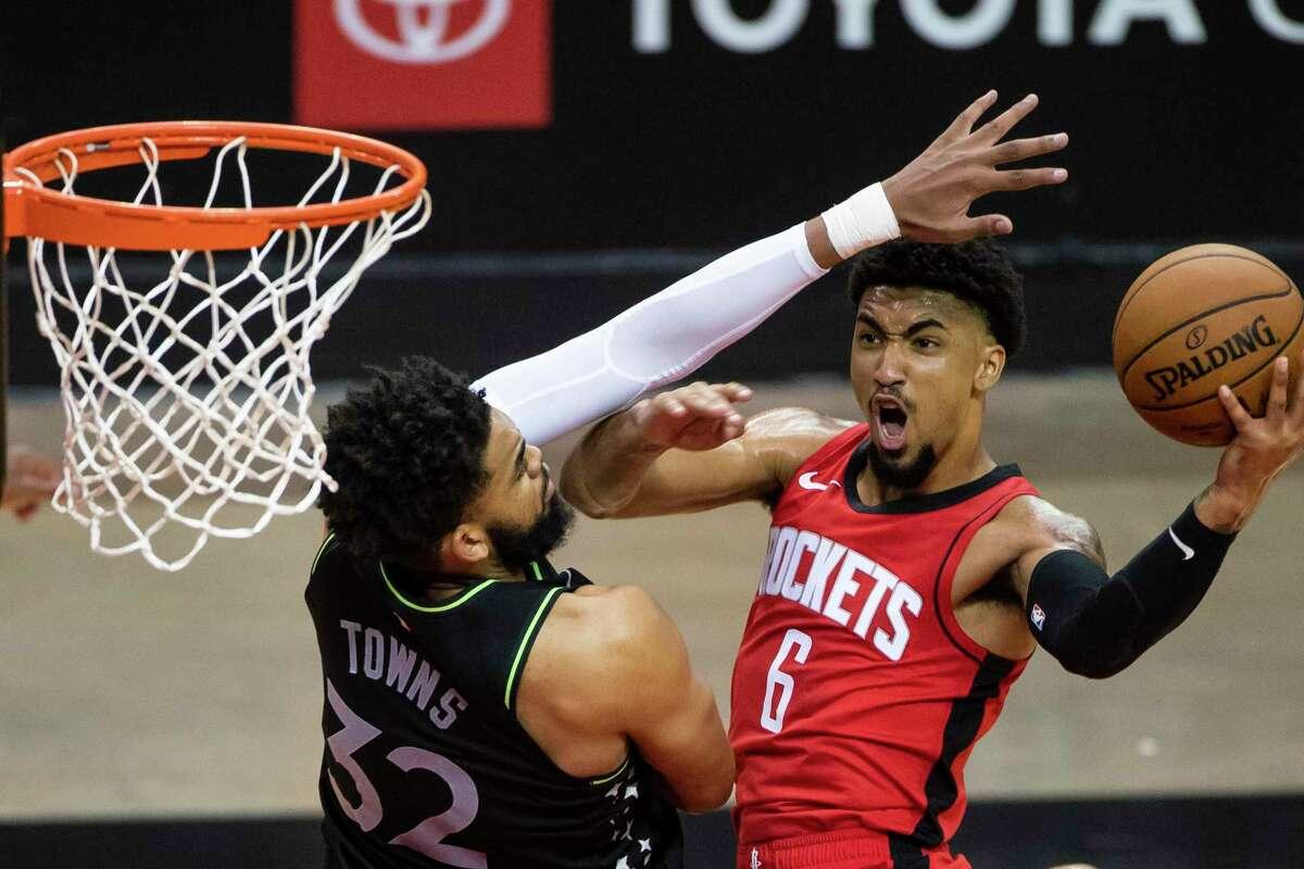 The Rockets' K.J. Martin had a pretty efficient preseason game Tuesday night.