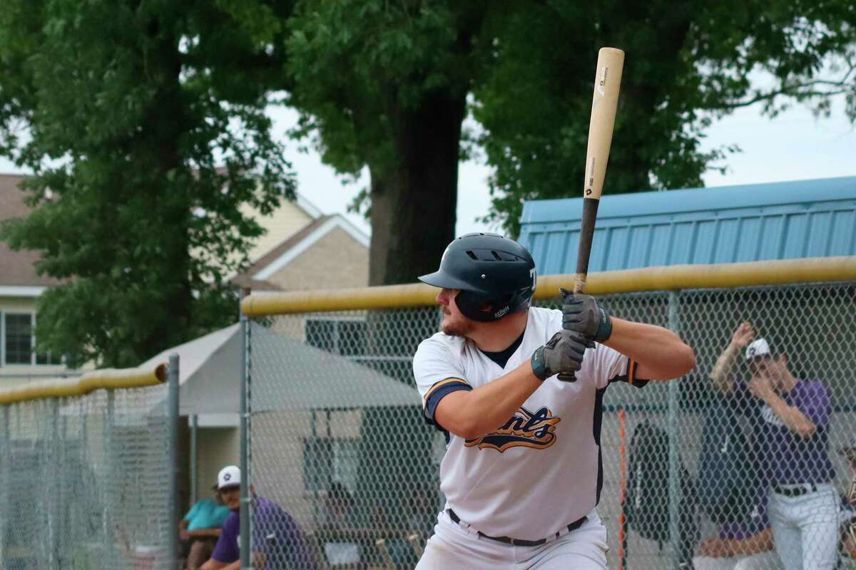 Lucas Richardson waits on a pitch during a home series earlier this summer. (News Advocate file photo)