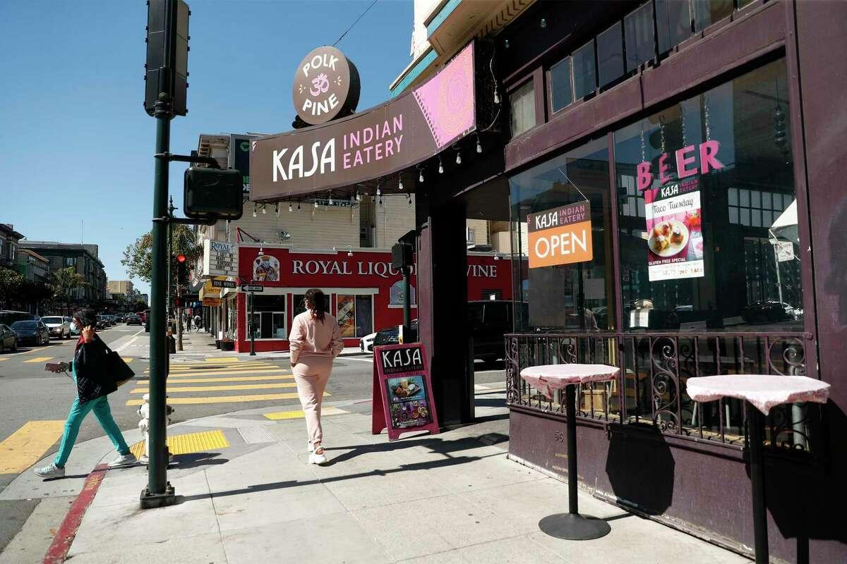 Kasa Indian Eatery on Polk Street in San Francisco.
