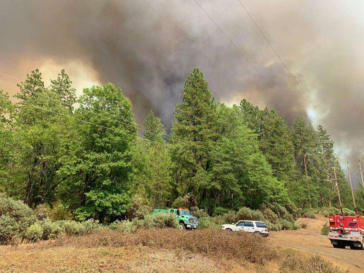 A strike team with Cal Fire's San Mateo - Santa Cruz Unit was deployed to assist with the Salt Fire, which was burning just north of Redding in Shasta County on Wednesday, June 30, 2021.