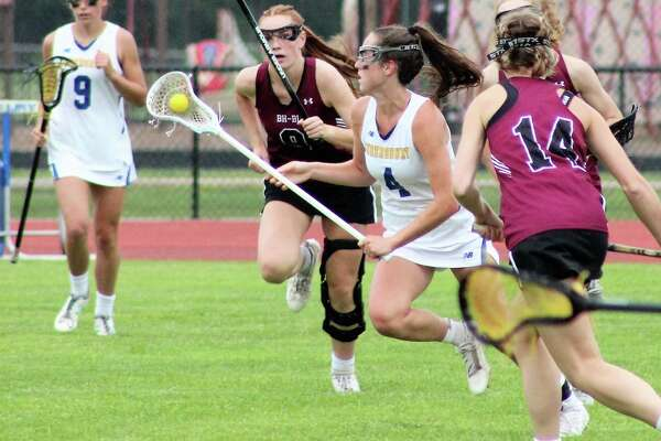 Queensbury's Brigid Duffy (4) is the Times Union girls' lacrosse athlete of the year.