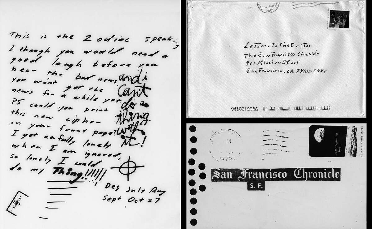 The Zodiac killer mailed a greeting card to The Chronicle that included a letter and a cryptogram on Nov. 11, 1969.