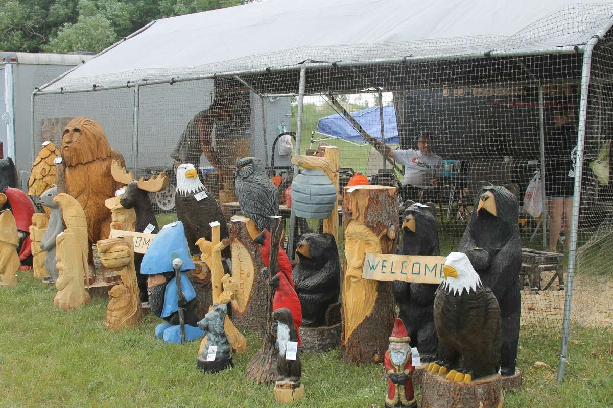 Master chainsaw carver Lonnie Glines will offer his works of wood art for sale from 10 a.m. to dusk from July 1-4 at Douglas Park.