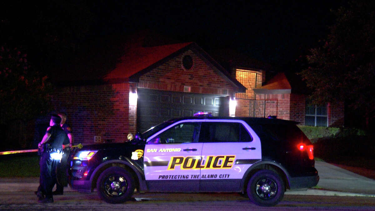 The driver of a black SUV shot at a home on the Northwest Side and then crashed into another home as they fled the scene Wednesday night, San Antonio police said.