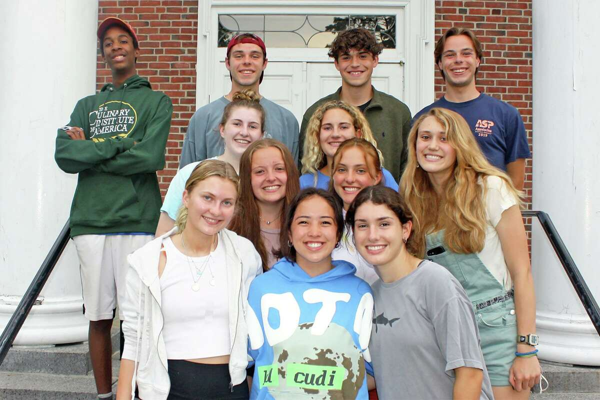 Prior to departing last Saturday on its annual mission trip, the Jesse Lee Appalachia Service Project in Ridgefield honored 13 teens who have participated in the home repair ministry during their four years of high school. Bottom row: Anna Skare, Emory Haines and Eva McKinley. Second row: Annika Bonwetsch, Bella Lussi and Lily Walsh. Third row: Kate Fleming and Kate Bucci. Back row: Jake O'Brien, Parker Etzbach, Ethan Mills and Reid Etzbach. Not pictured: Cate Ousey.