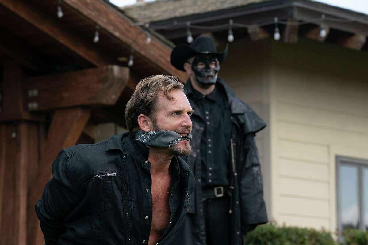 """Josh Lucas, foreground, in """"The Forever Purge."""" MUST CREDIT: Jake Giles Netter/Universal Pictures"""