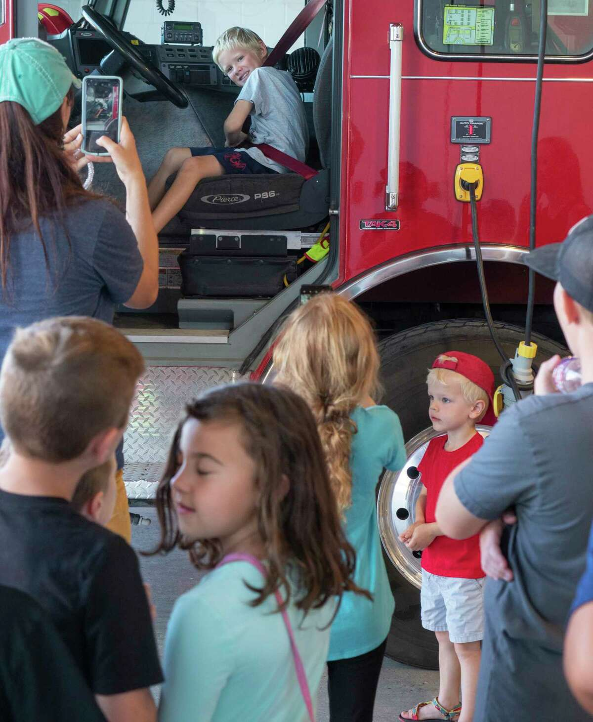 Community members were allowed to tour the new fire house 07/01/2021 during the ceremony to officially open the new Station 5 fire house on the corner of Garfield and W. Golf Course Rd.. Tim Fischer/Reporter-Telegram