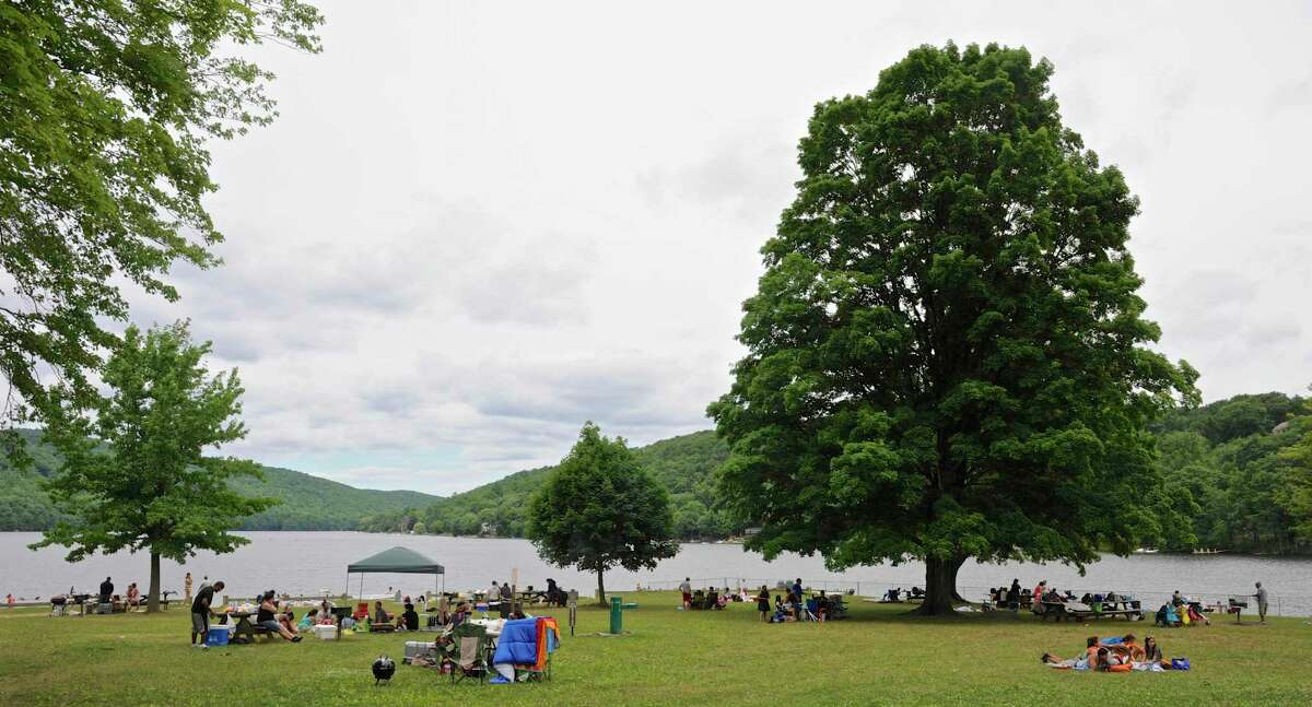 The state parks, especially more popular spots like Squantz Pond in New Fairfield, Conn., are expected to reach full parking capacity early on in the day throughout the weekend.