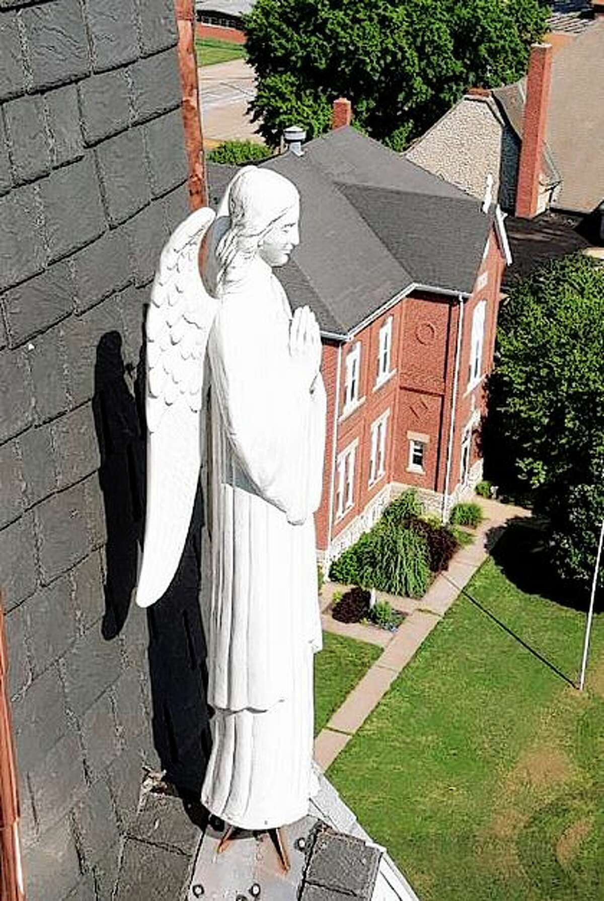 In addition to its history, Saint Francix Xavier Church in Jerseyville features several artistic opportunities.