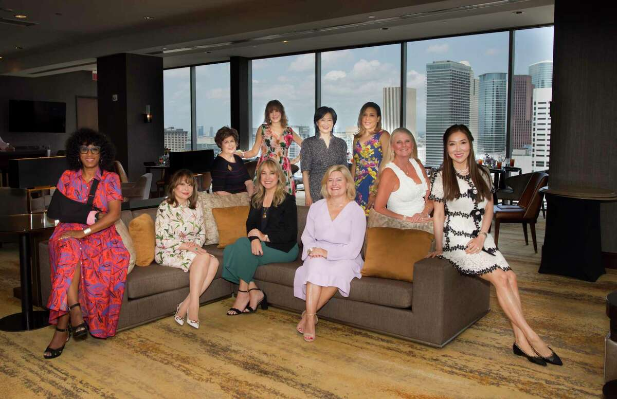 The 2022 Women of Distinction. Front row, from left: Joy Sewing, Rini Wu Ziegler, Elaine Balagia Croucher, Maureen Higdon, Mandy Kao; Back row, from left: Jo Dee Wright, Vicki West, Anne Chao, Heidi Smith, Joni Hruska Fichter