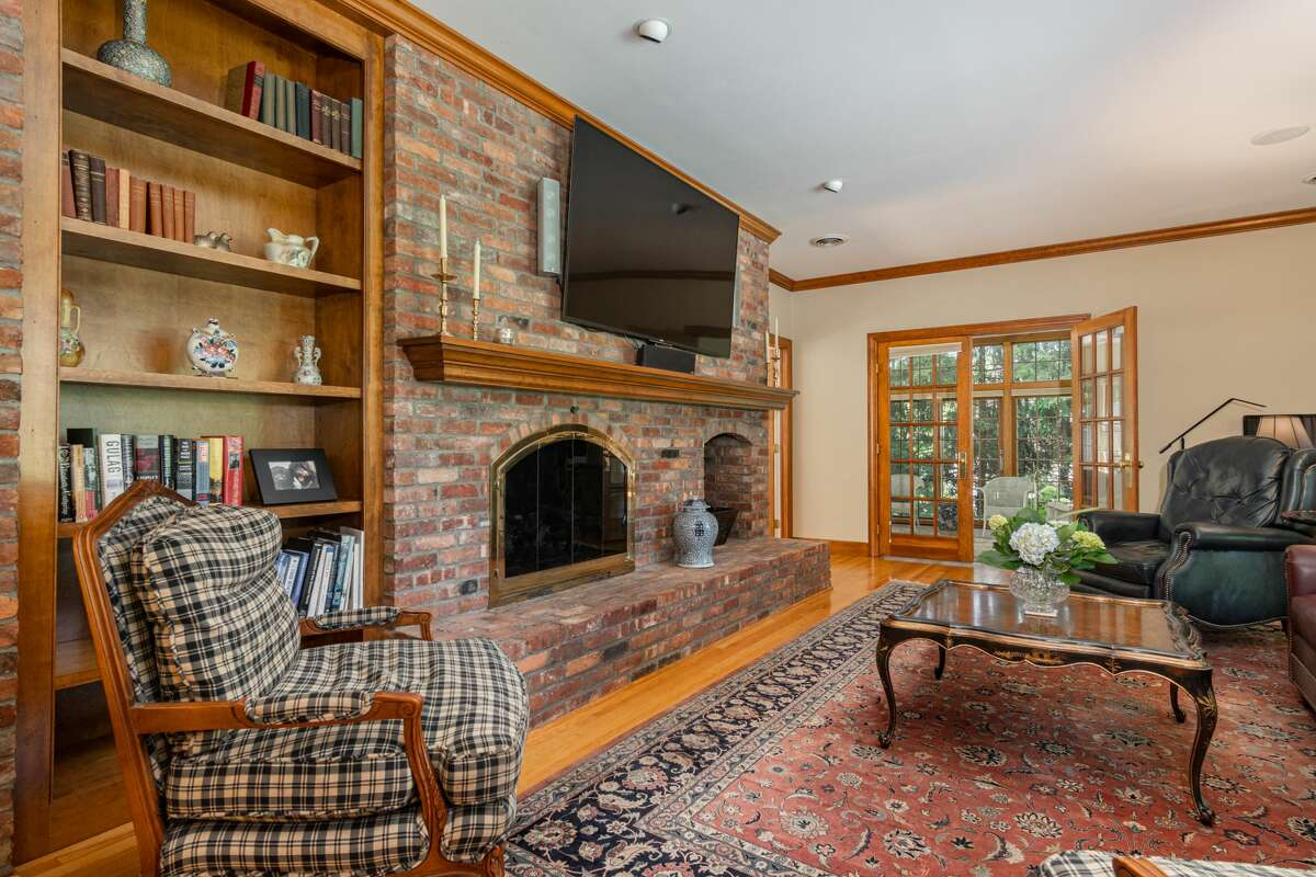 This week's house is a 4,432-square-foot, brick Colonial on an acre bordering the Schuyler Meadows Golf Club. Built in 1994, the house is decorated in a deeply traditional style. There is a formal dining room and living room with a fireplace as well as a sitting room with a second, brick fireplace. Dentil mouldings and wainscotting panels are abundant. A bathroom on the second floor contains a stand-alone tub under a large, round window; a pocket door conceals the toilet. Four bedrooms in all; three full bathrooms and two half-baths. There are three bays in the garage. A stone patio out back overlooks a treed yard and the golfing greens beyond. North Colonie schools. Taxes: $31,729. List price: $1.35 million. Contact listing agent Steven Girvin of Howard Hanna at 518-852-1315. https://realestate.timesunion.com/listings/6-East-Ridge-Rd-Colonie-NY-12211-MLS-202111090/48536123