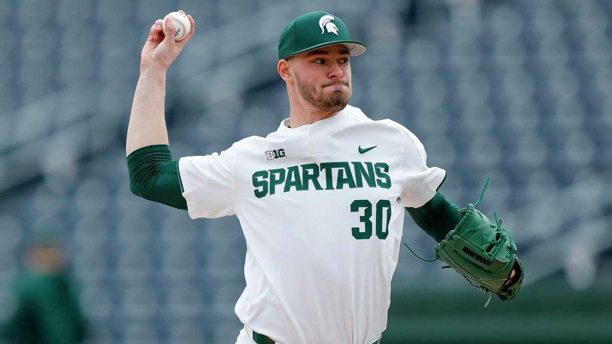 Cass City's Mason Erla may hear his name called in the upcoming Major League Baseball draft, July 11-13. (MSU Athletics/Courtesy Photo)