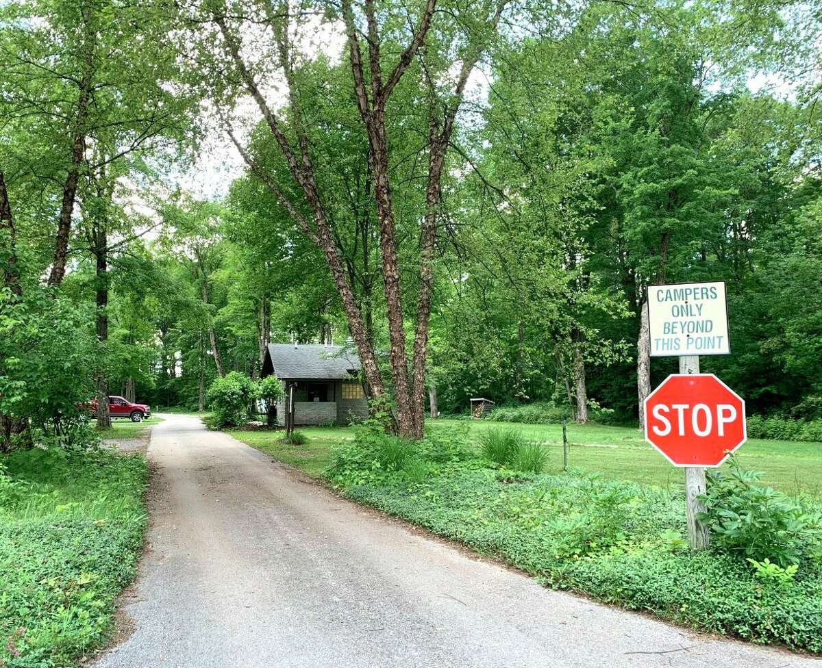 Difficulty of large campers to maneuver through the campsites at Rambadt Park has prompted the Reed City city council to consider improvements at the park. (Pioneer photo/Cathie Crew)
