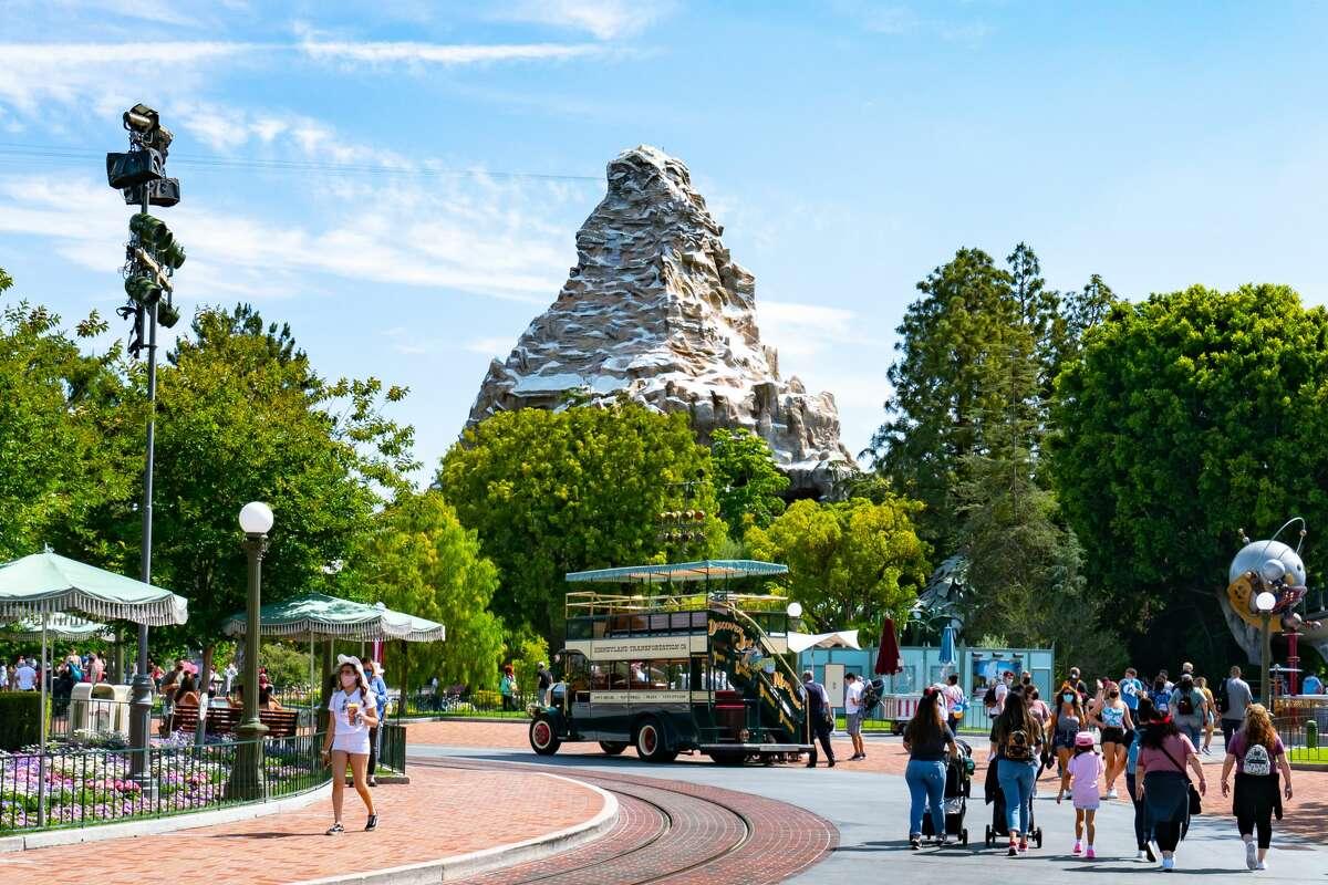 General views of the Matterhorn at Disneyland on June 6, 2021.