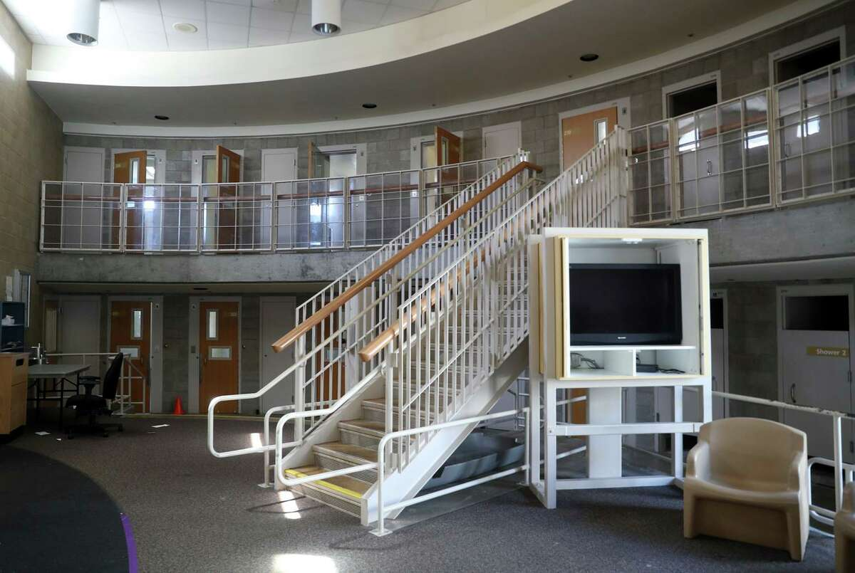 A housing unit at San Francisco juvenile hall is empty. The city planned to shut down its facility by the end of 2021, but that is looking increasingly unlikely.