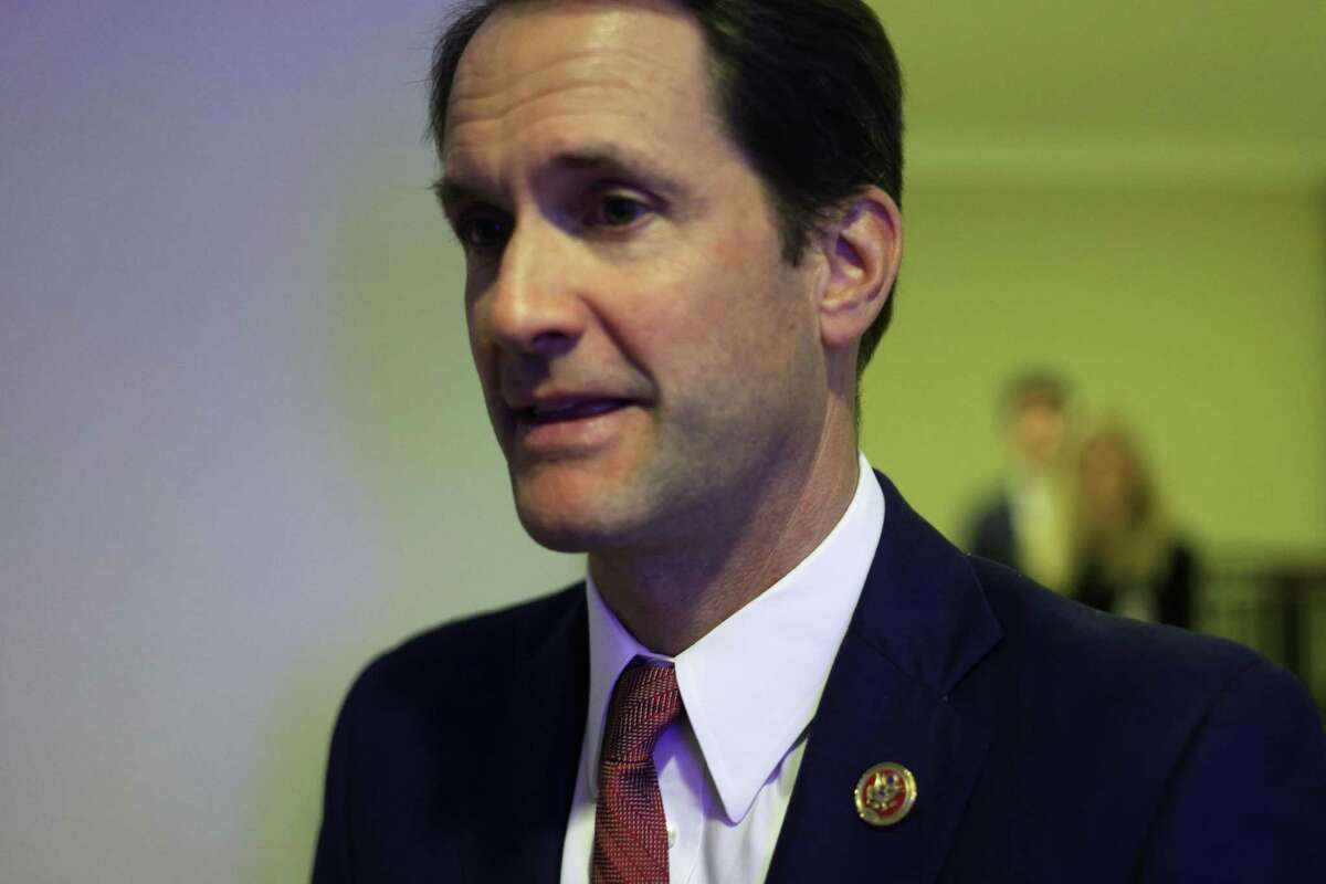 U.S. Rep. Jim Himes, D-Conn., arrives at a news conference at the U.S. Capitol on June 16 in Washington, D.C. Speaker Nancy Pelosi held a news conference to announce members of the newly established Select Committee on Economic Disparity and Fairness in Growth.