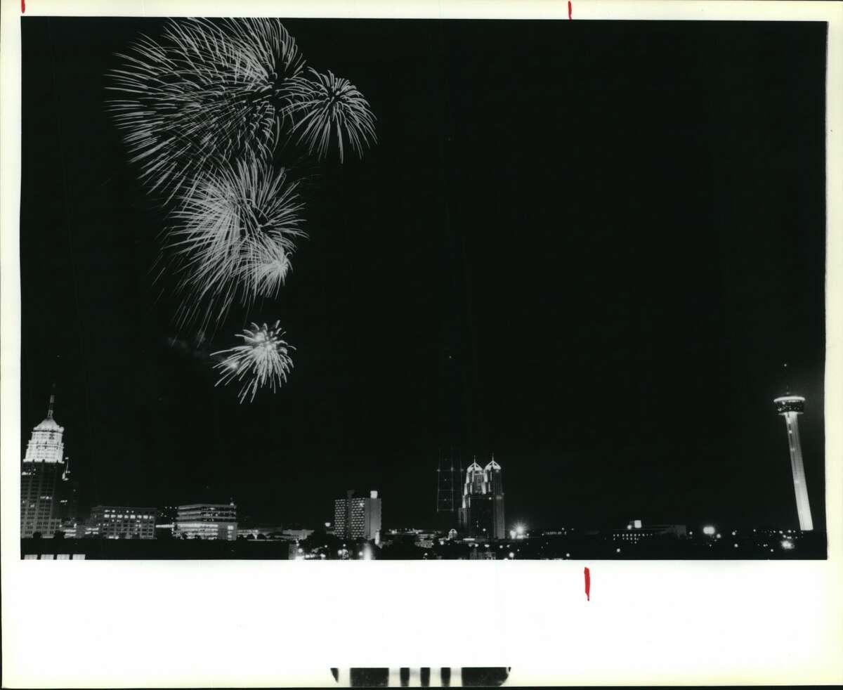 Independence Day Fireworks at La Villita, 1988.
