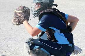 Halle Richardson proved herself one of the best catchers in the state this year, claiming all-conference, all-district and all-region honors. (News Advocate file photo)