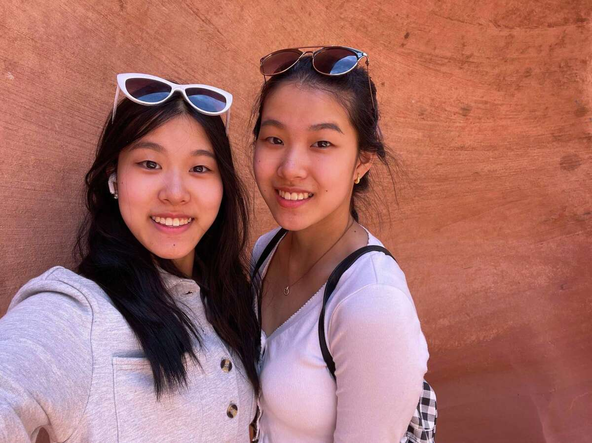 Annie (left) and Shirley (right) Zhu are Bellaire HS twins and co-valedictorians who have big plans after high school.