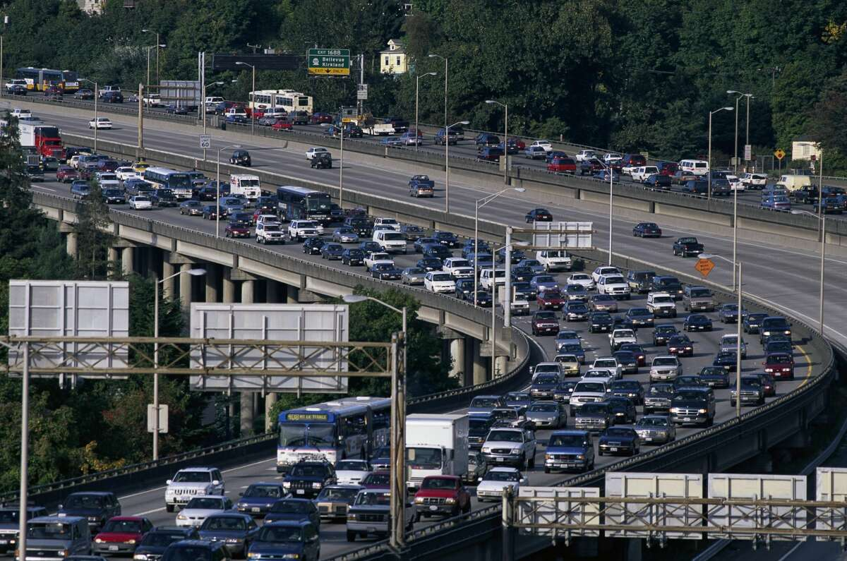 Traffic on Interstate 5 near Seattle.