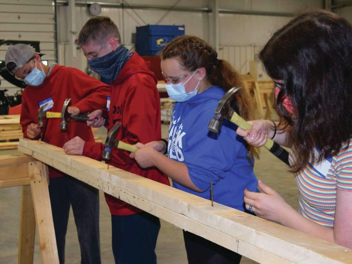 At CTE Summer Camp, students had the opportunity to get hands-on in any of seven different career fields, including construction trades. (Photo provided)
