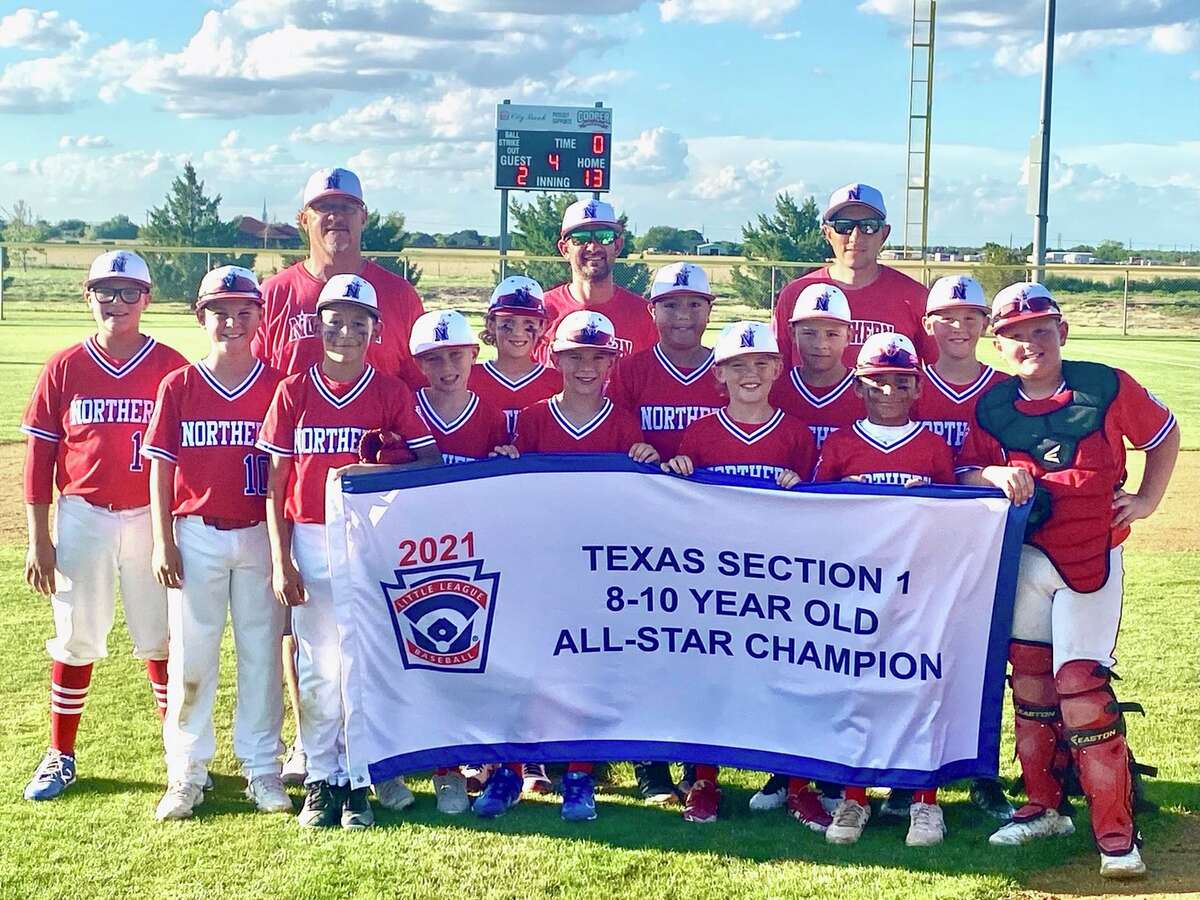 The Northern Little League 8-10 year old All-Stars pose after winning the Section 1 Tournament in Lubbock on Thursday. Northern defeated Lubbock Cooper, 13-2, to qualify for next week's Texas West State Tournament in Abilene.
