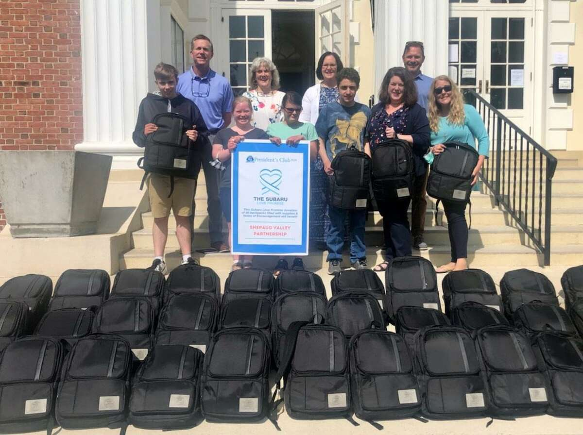 Shepaug Valley Partnership has received donations of 40 backpacks from Subaru of New England.