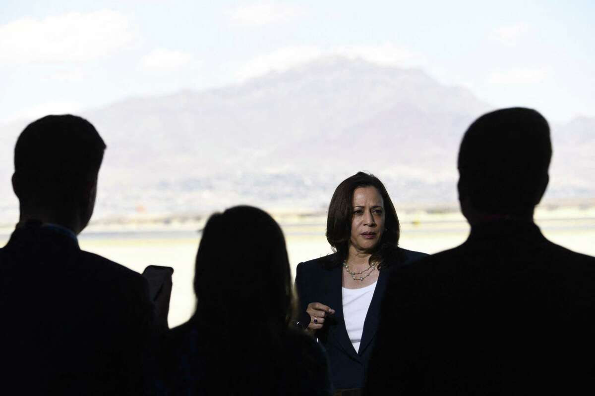 Vice President Kamala Harris speaks at a press conference during her recent visit to El Paso. A reader cites corruption in the Northern Triangle as a reason to stop providing aid.