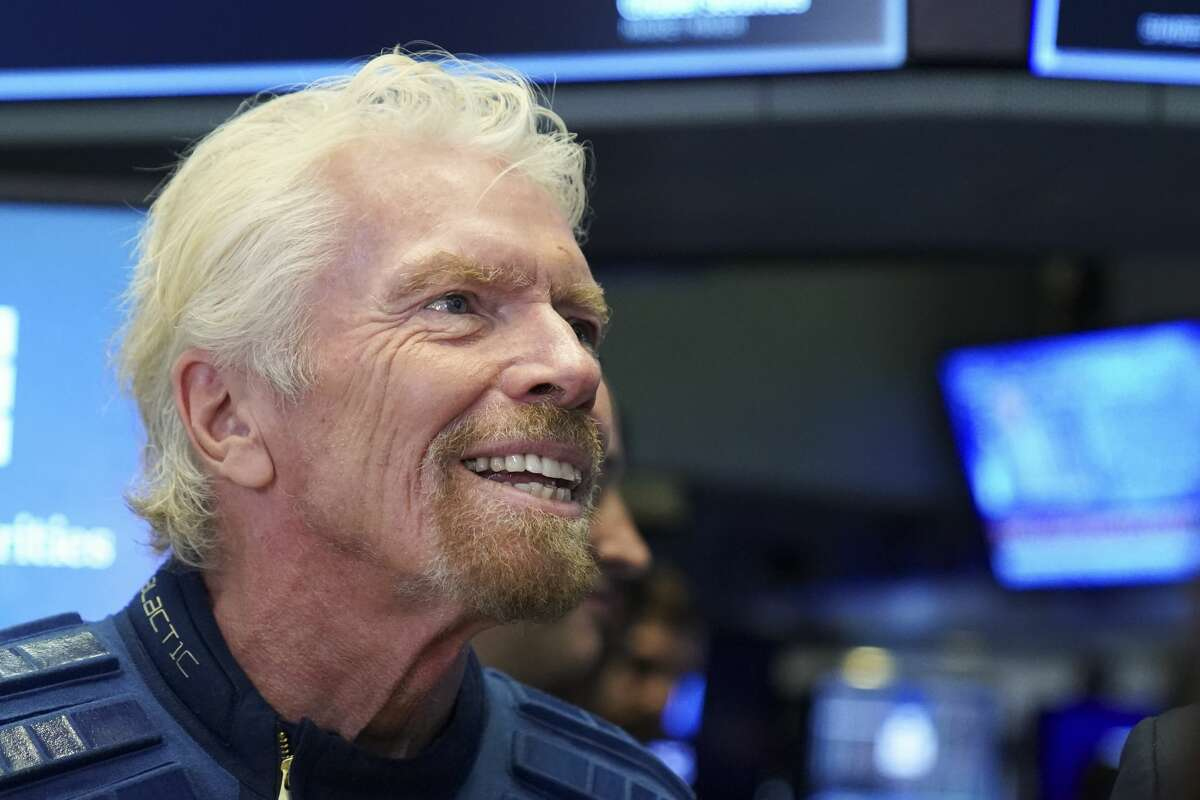 NEW YORK, NY - OCTOBER 28: Sir Richard Branson, Founder of Virgin Galactic, looks on before ringing a ceremonial bell on the floor of the New York Stock Exchange (NYSE) to promote the first day of trading of Virgin Galactic Holdings shares on October 28, 2019 in New York City. Virgin Galactic Holdings became the first space-tourism company to go public as it began trading on Monday with a market value of about $1 billion. (Photo by Drew Angerer/Getty Images)
