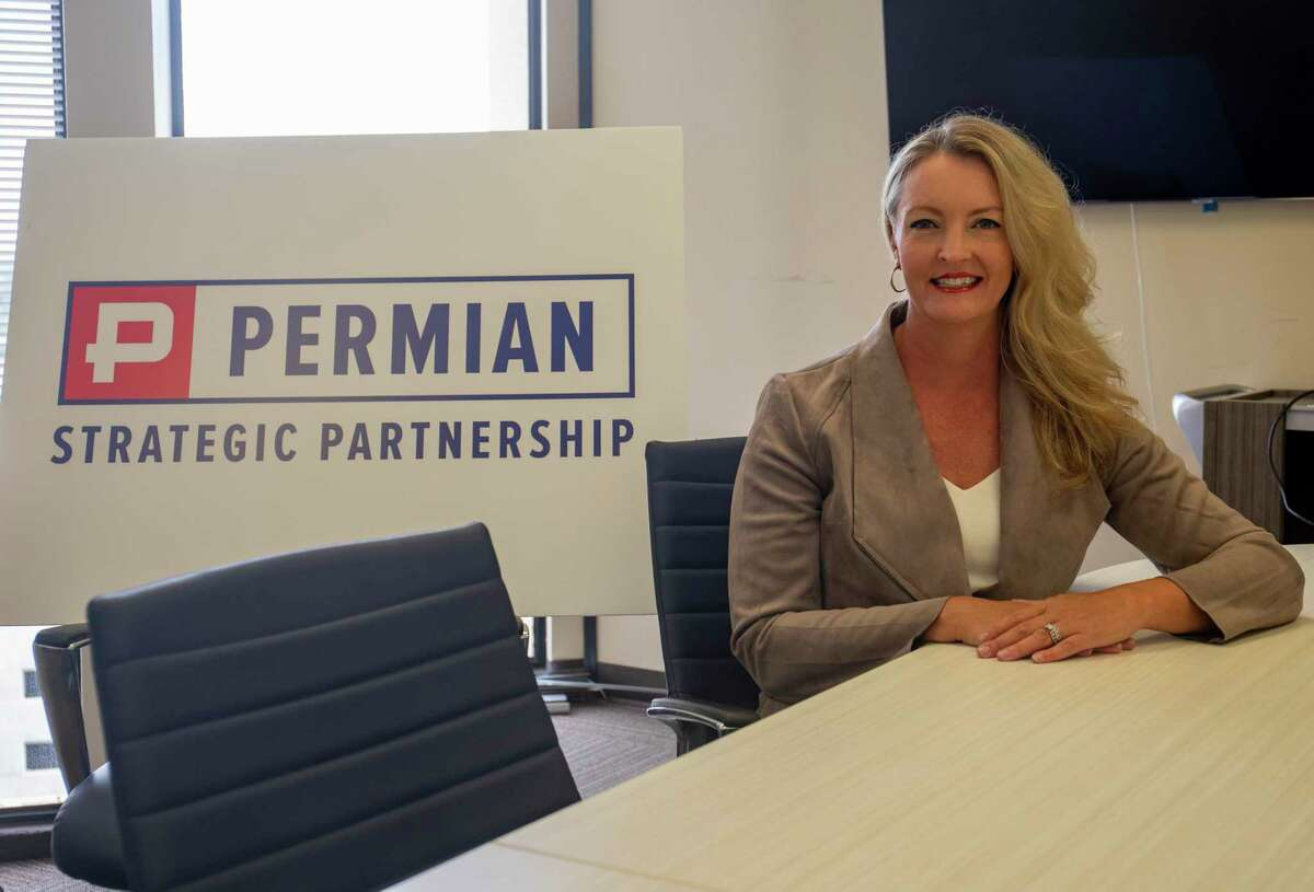 Permian Strategic Partnership president and CEO Tracee Bentley poses for a portrait Friday, July 2, 2021 at 500 W. Texas Ave. Suite 900. Jacy Lewis/Reporter-Telegram