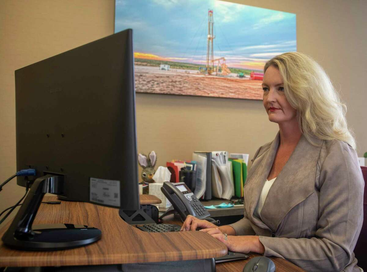 Permian Strategic Partnership president and CEO Tracee Bentley works on her computer Friday, July 2, 2021 at 500 W. Texas Ave. Suite 900. Jacy Lewis/Reporter-Telegram